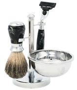 Brompton & Langley Men's 4 Peice Luxe Shave Kit Black