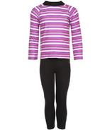 Kombi Body Snuggly Fleece Set Purple Wine Micro Stripe