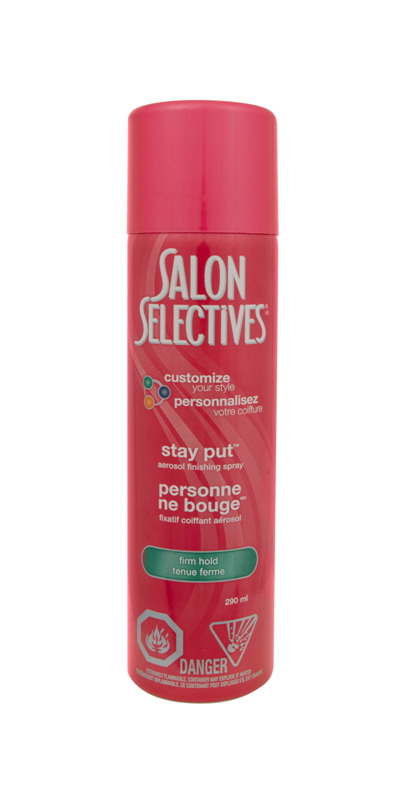 Buy salon selectives stay put aerosol finishing spray at for Added touch salon