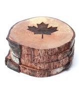 Woodrift and Co Maple Leaf West Coasters