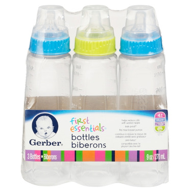 Gerber First Essentials Clear View Silicone Narrow Neck Bottles