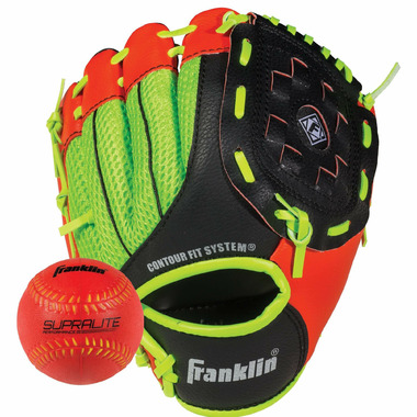 """Franklin Sports Neo-Grip 9\"""" Glove and Ball Set"""