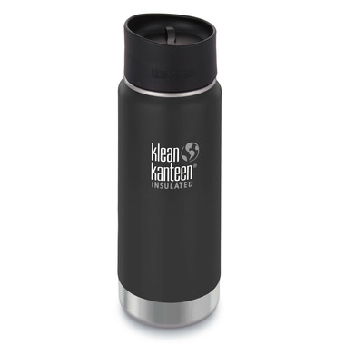 Klean Kanteen Stainless Steel Bottle with Cafe Cap Shale Black Matte