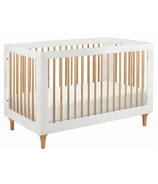 Babyletto Lolly 3-in-1 Convertible Crib White and Natural