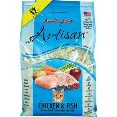 Grandma Lucy\'s Artisan Chicken Fish Recipe Freeze-Dried Grain-Free Cat Food