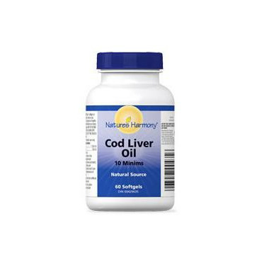 Nature\'s Harmony Cod Liver Oil Capsules