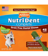 Nutri Dent Complete Dental Chews Grain Free Small Size 42 Pack