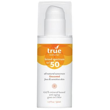 True Natural Broad Spectrum SPF 50 Facial Sunscreen