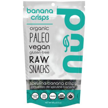 Nud Fud Spirulina Banana Crisps