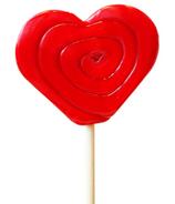 papabubble Handcrafted Heart Lollipop