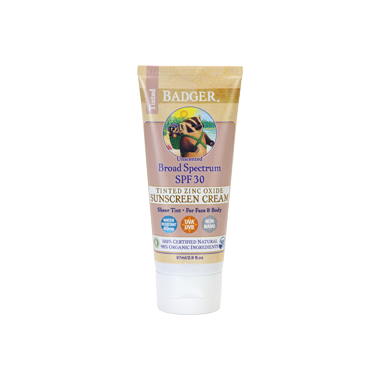 Badger Sheer Tint Sunscreen Cream SPF 30