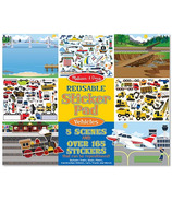 Melissa & Doug Vehicles Reusable Sticker Pad