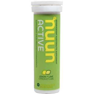 Nuun Active Effervescent Electrolyte Supplement Lemon + Lime