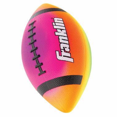 """Franklin Sports Mini 7\"""" Rainbow PVC Vibe Football"""