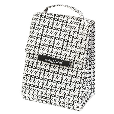 Keep Leaf Lunch Bag Black & White