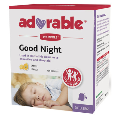 Wampole Adorable Good Night Herbal Calmative & Sleep Aid Tea