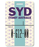 Smitten Kitten Sydney Luggage Tag