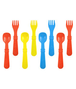 Re-Play Utensils Primary Red, Yellow and Sky Blue