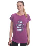 Gaiam Intention Tee Striking Purple Heather Find Beauty