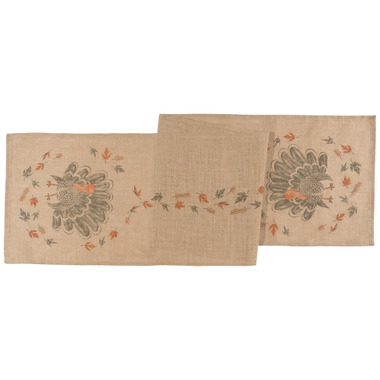 Now Designs Table Runner Burlap County Turkey