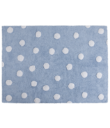 Lorena Canals Washable Rug Topos Blue Polka Dot