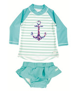 Banz Two Piece Long Sleeve Swimsuit Anchor