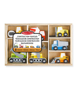 Melissa & Doug Wooden Construction Site Vehicles