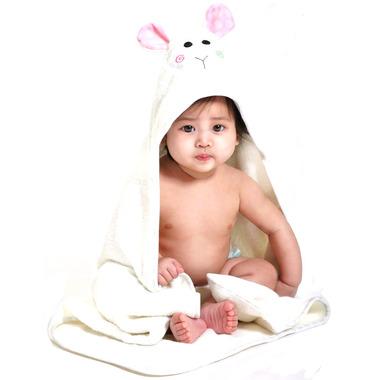 Zoocchini Baby Hooded Towel Lola The Lamb