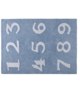 Lorena Canals Washable Rug Numbers Blue
