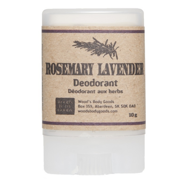 Wood\'s Body Goods Rosemary Lavender Natural Mini Deodorant
