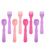 Re-Play Utensils Princess Baby Pink, Bright Pink and Purple