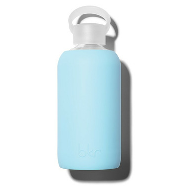 bkr Birdie Glass Water Bottle Opaque Robin's Egg Blue