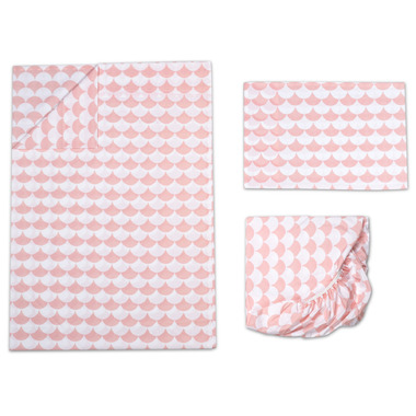 Lolli Living Toddler Sheet Set Kayden Pink Scallop