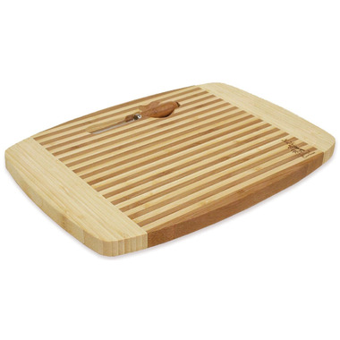 Island Bamboo Laguna Cheese and Bread Board with Knife Insert