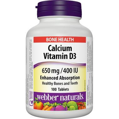 Webber Naturals Calcium Carbonate With Vitamin D