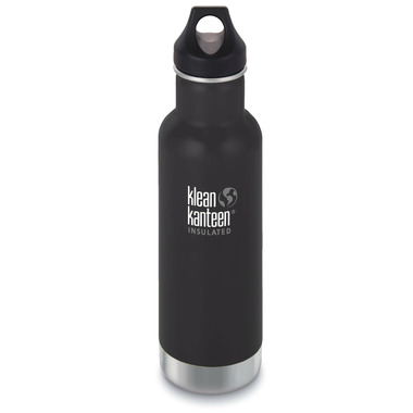 Klean Kanteen Insulated Classic Bottle with Loop Cap Shale Black