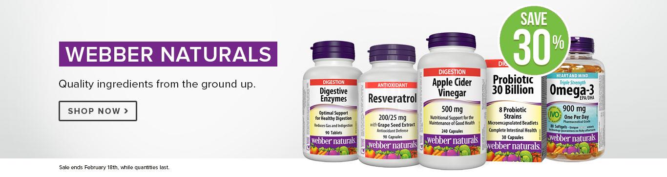Save 30% on Webber Naturals