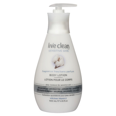 Live Clean Sensitive Skin Fragrance Free Body Lotion