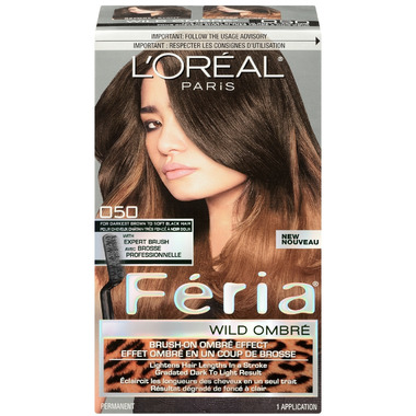 L\'Oreal Feria Wild Ombre 050 for Darkest Brown to Soft Black Hair