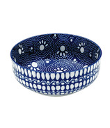 Ore Pet Speckle & Spot Deep Bowl in Bandana Blue