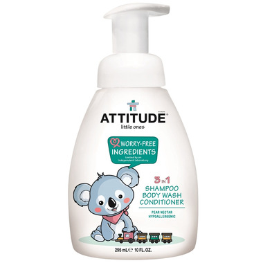ATTITUDE Little Ones 3-in-1 Body Wash, Shampoo & Conditioner