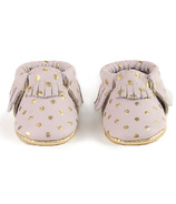 Freshly Picked Newborn Moccasins Heirloom Blush and Gold