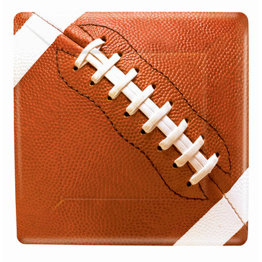 Football Fan Square Paper Plates