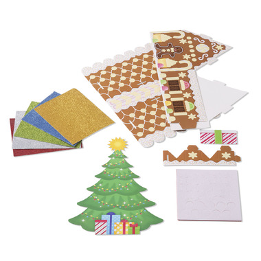 Melissa & Doug Mess- Free Glitter Christmas Tree and Gingerbread House