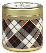 Paddywax Tartan Gold Tin Vanilla Bean & Cinnamon Candle