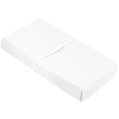 Kushies Flannel Change Pad Fitted Sheet White