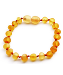 Momma Goose Baby Amber Teething Bracelet Unpolished Honey