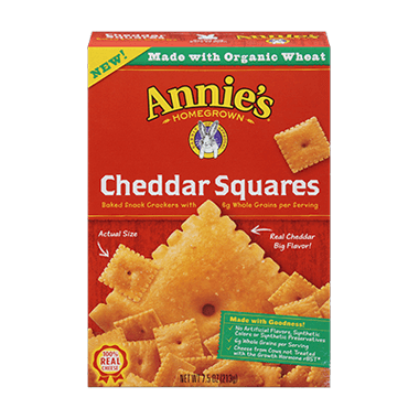 Annie\'s Homegrown Cheddar Squares