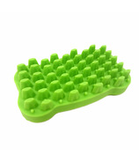 FFD Pet Groomie Silicone Brush for Dogs Lime Green
