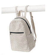 Baggu Zip Backpack in Natural Grid